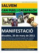 Es convoca una manifestació per exigir a les administracions que vetllin per la conservació de Can Puig i Cadafalch