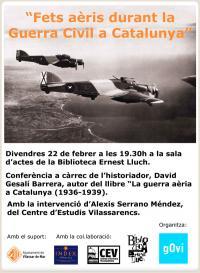 Cartell de l'acte del gOvi Fets Aèris a Vilassar