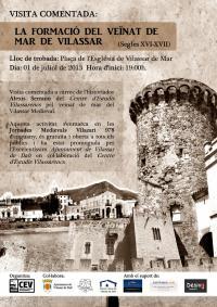 Cartell visita comentada pel Vilassar de Mar Medieval